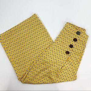 Zara Wide Legged Cullottes yellow black Medium